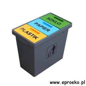 Pojemnik trzykomorowy TRIOCONCEPT 40l segregacja