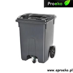 Pojemnik, kontener, kosz na odpady, śmieci,MGB-400 litrów ESE grafit