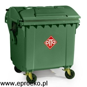 Pojemnik na odpady 1100l z półokrągłą pokrywą