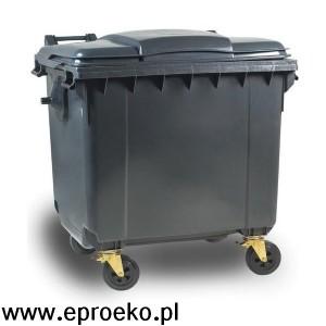 Pojemnik na odpady 1100l z płaską pokrywa