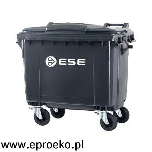 Pojemnik na odpady 660 litrów ESE grafit