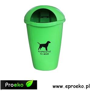 Kosz uliczny, parkowy DOGNOVA na psie odchody 50 litrów