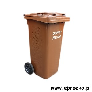Kosz, pojemnik, kontener 120 litrów na odpady zielone, BIO