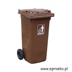 Kosz, pojemnik,120 litrów na odpady zielone, BIO, bioodpady