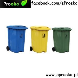 Komplet, zestaw pojemników 360l do segregacji odpadów ESE